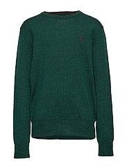 Merino Wool Crewneck Sweater - FOREST GREEN HEAT