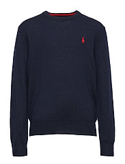 Merino Wool Crewneck Sweater - NAVY