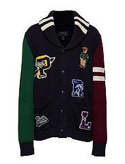Polo Bear Cotton Cardigan - RL NAVY MULTI