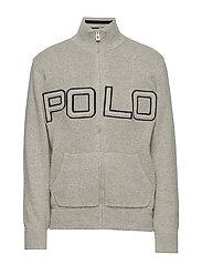 Polo Cotton Full-Zip Sweater - DARK SPORT HEATHE