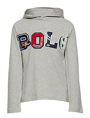 Cotton Graphic Hooded Tee - LT GREY HEATHER