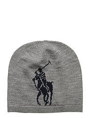 Big Pony Wool Hat - DARK SPORT HEATHE
