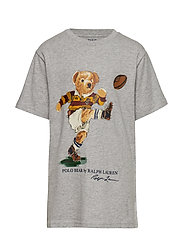 Rugby Bear Cotton Jersey Tee - LT GREY