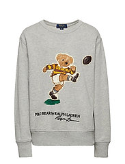 Rugby Bear Cotton Sweatshirt - LT GREY HEATHER