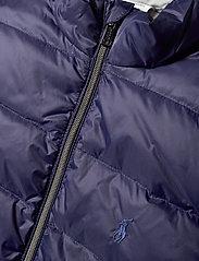 Ralph Lauren Kids - Reversible Quilted Down Vest - vests - french navy/grey - 4