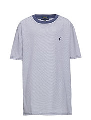 Striped Cotton-Blend Tee - FEDERAL BLUE
