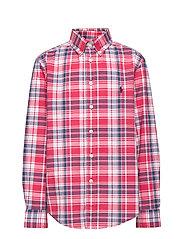 Plaid Cotton Poplin Shirt - RED/WHITE