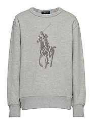 Cotton-Blend Sweatshirt - LIGHT GREY HEATHE