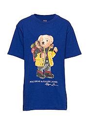 Snowboard Bear Cotton Tee - HERITAGE ROYAL