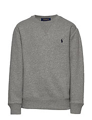 Cotton-Blend-Fleece Sweatshirt - DARK SPORT HEATHE