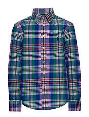 Plaid Cotton Poplin Shirt - ROYAL MULTI