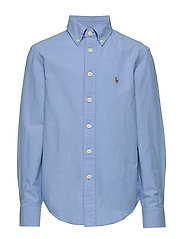 Cotton-Blend Shirt - BLUE LAGOON