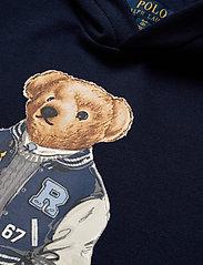 Ralph Lauren Kids - Football Bear Fleece Hoodie - hoodies - newport navy - 2