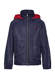 Water-Resistant Packable Hooded Jacket - NEWPORT NAVY/ RL2