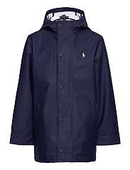 Logo Rain Jacket - NEWPORT NAVY