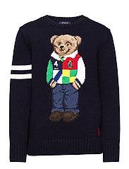 Polo Bear Cotton Sweater - RL NAVY