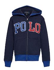 Logo Fleece Full-Zip Hoodie - NEWPORT NAVY
