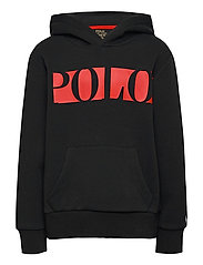 Logo Double-Knit Hoodie - POLO BLACK