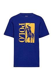 Big Pony Logo Cotton Jersey Tee - HERITAGE ROYAL