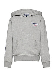 Polo Sport Fleece Hoodie - ANDOVER HEATHER