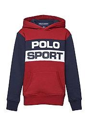 Polo Sport Fleece Hoodie - RL2000 RED MULTI