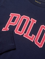 Ralph Lauren Kids - Logo Cotton Jersey Tee - long-sleeved t-shirts - cruise navy - 2