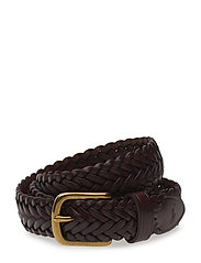 "BRAIDED LEATHER-1 1/8"" ENDBR-DRC-SM - HAVANNA"