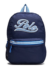 STRIPE NYLON-BACKPACK-BPK-LRG - BLUE