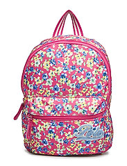 RUGBY FLORAL NYLON-SM BACKPACK-BPK- - PINK MULTI