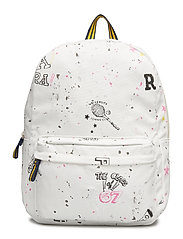 SCRIBBLE CANVAS-BACKPACK-BPK-LRG - ECRU