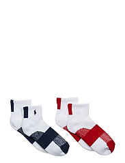 POLY BLEND-COLORBLOCK-SOX-2PK