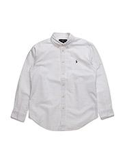 Custom Fit Cotton Dress Shirt - WHITE