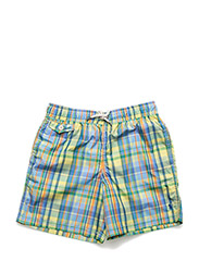 Traveler Plaid Swim Trunk - HAMPTON PLAID