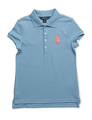 Big Pony Stretch Mesh Polo - BOLIVIAN BLUE