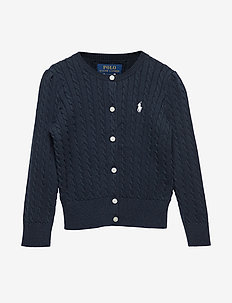 Mini-Cable Cotton Cardigan - HUNTER NAVY