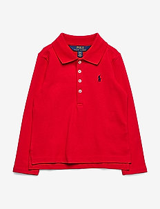 Stretch Cotton Mesh Polo Shirt - RL 2000 RED