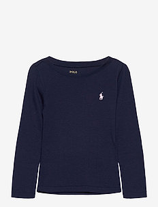 Cotton-Modal Long-Sleeve Tee - långärmade t-shirts - french navy