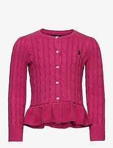 COTTON-PEPLUM CARDI-TP-SWT - koftor - college pink heat
