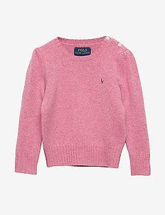 Wool-Cashmere Crewneck Sweater - WINE ROSE HEATHER