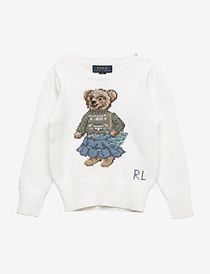 Boho Bear Cotton Sweater - TROPHY CREAM