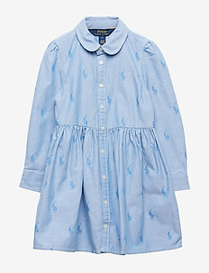 Pony Cotton Shirtdress - OXFORD BLUE