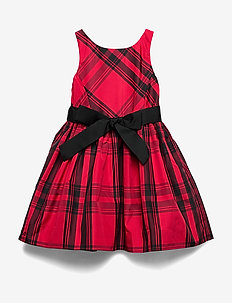 Plaid Taffeta Dress - RED AND BLACK