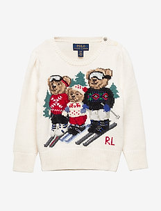 BEAR FAMILY-TOPS-SWEATER - CLUBHOUSE CREAM