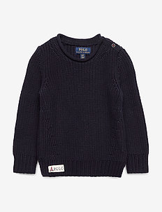 Cotton Rollneck Sweater - RL NAVY