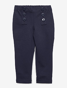 Nautical Stretch Ponte Pant - HUNTER NAVY