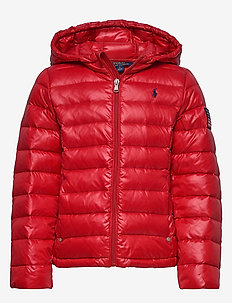Packable Quilted Down Jacket - puffer & padded - rl 2000 red