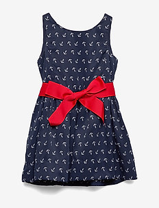 Anchor-Print Twill Dress - ANCHOR PRINT