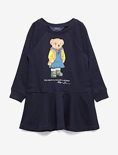 Raincoat Bear Terry Dress - HUNTER NAVY