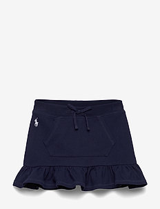 Ruffled Mesh Scooter Skirt - hameet - french navy