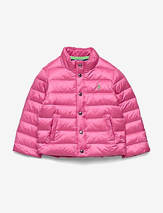 Packable Quilted Down Jacket - puffer & padded - baja pink